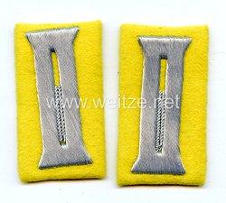 Wehrmacht Heer Paar Ärmelpatten für Offiziere der Nachrichtentruppe