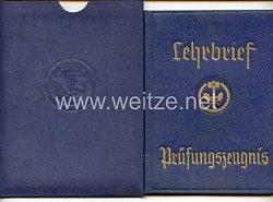 III. Reich - Handwerker-Innung der Schreiner und verwandte Berufe - Lehrbrief-Prüfungszeugnis
