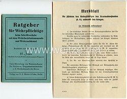III. Reich - Ratgeber für Wehrpflichtige beim Schriftverkehr mit dem Wehrbezirkskommando und Wehrmeldeamt