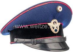 III. Reich Schirmmütze für Mannschaften der Werksfeuerwehr in einem Ernst Heinkel Flugzeugwerk