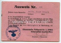 Luftwaffe - Ausweis für einen Feldwebel im Flugmeldedienst
