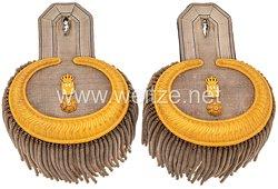 Preußen Paar Epauletten für einen für einen Militär-Intendant als Rat III. Klasse
