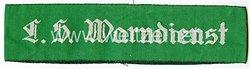 III. Reich Ärmelband, Luftschutz Warndienst