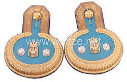 Preußen Paar Epauletten für einen für einen Ober-Inspektor der Garnison-Verwaltung