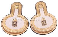 Preußen Paar Epauletten für einen für einen Zivilbeamten der Militärverwaltung, Feld-Kriegskassen-Personal, Kassierer und Buchhalter