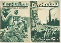 III. Reich - 2 x Ausgabe von : Der Aufbau - Alleiniges amtliches Organ der NS-Hago - 1. Jahrgang 1933/1934 Folge 8 und 9