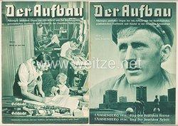 III. Reich - 2 x Ausgabe von : Der Aufbau - Alleiniges amtliches Organ der NS-Hago - 1. Jahrgang 1933/1934 Folge 18 und 19