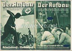 III. Reich - 2 x Ausgabe von : Der Aufbau - Alleiniges amtliches Organ der NS-Hago - 1. Jahrgang 1933/1934 Folge 22 und 23