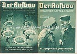 III. Reich - 2 x Ausgabe von : Der Aufbau - Alleiniges amtliches Organ der NS-Hago - 1./2. Jahrgang 1933/1934 Folge 26 und 27