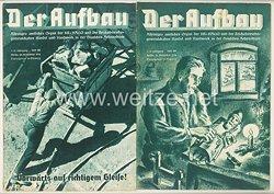 III. Reich - 2 x Ausgabe von : Der Aufbau - Alleiniges amtliches Organ der NS-Hago - 1./2. Jahrgang 1933/1934 Folge 28 und 29