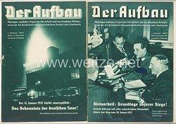 III. Reich - 2 x Ausgabe von : Der Aufbau - Alleiniges amtliches Organ der NS-Hago - 3. Jahrgang 1935 Folge 1 und 2