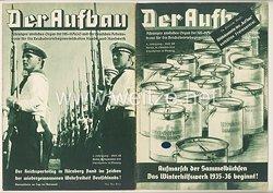 III. Reich - 2 x Ausgabe von : Der Aufbau - Alleiniges amtliches Organ der NS-Hago - 3. Jahrgang 1935 Folge 18 und 19
