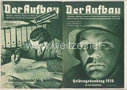 III. Reich - 2 x Ausgabe von : Der Aufbau - Alleiniges amtliches Organ der NS-Hago - 4. Jahrgang 1936 Folge 3 und 4
