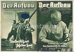 III. Reich - 2 x Ausgabe von : Der Aufbau - Alleiniges amtliches Organ der NS-Hago - 4. Jahrgang 1936 Folge 9 und 10