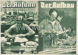 III. Reich - 2 x Ausgabe von : Der Aufbau - Alleiniges amtliches Organ der NS-Hago - 4. Jahrgang 1936 Folge 13 und 14