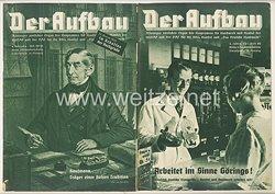 III. Reich - 2 x Ausgabe von : Der Aufbau - Alleiniges amtliches Organ der NS-Hago - 4. Jahrgang 1936 Folge 20/21 und 22