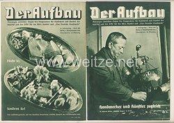 III. Reich - 2 x Ausgabe von : Der Aufbau - Alleiniges amtliches Organ der NS-Hago - 4. Jahrgang 1936 Folge 23 und 24