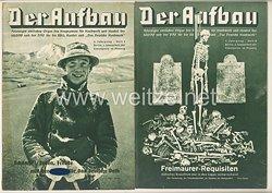 III. Reich - 2 x Ausgabe von : Der Aufbau - Alleiniges amtliches Organ der NS-Hago - 5. Jahrgang 1937 Folge 1 und 2