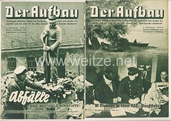 III. Reich - 2 x Ausgabe von : Der Aufbau - Alleiniges amtliches Organ der NS-Hago - 5. Jahrgang 1937 Folge 5 und 6