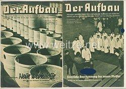 III. Reich - 2 x Ausgabe von : Der Aufbau - Alleiniges amtliches Organ der NS-Hago - 5. Jahrgang 1937 Folge 10 und 12