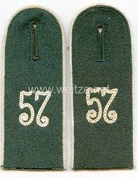 Wehrmacht Heer Paar Schulterklappen für Mannschaften im Infanterie Rgt.57