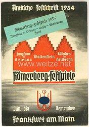 III. Reich - Amtliche Festschrift 1934 der Römerberg-Festspiele in Frankfurt am Main von Juli-September