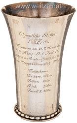 Reichswehr - Infanterie-Regiment 20 - Silberpokal für die Olympische Staffel als 1. Preis anläßlich des Regiments-Sportfestes auf dem Truppenübungsplatz Münsingen
