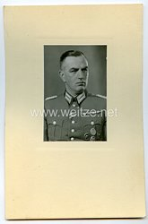 III. Reich Polizei großes Portraitfoto eines Major