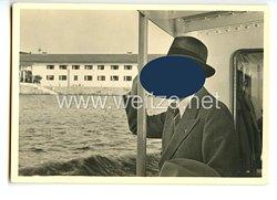 """III. Reich - Propaganda-Postkarte - """" Adolf Hitler - Der Führer besucht das Rathaus am Chiemsee """""""