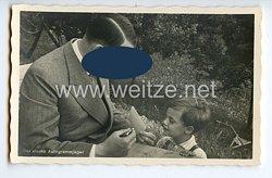 """III. Reich - Propaganda-Postkarte - """" Adolf Hitler - Der kleine Autogrammjäger """""""