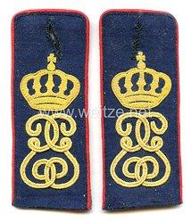 Sachsen Paar Schulterklappen für Mannschaften im Infanterie-Regiment König Georg Nr. 106