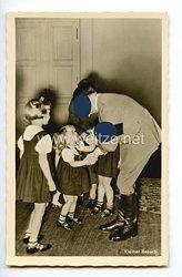 """III. Reich - Propaganda-Postkarte - """" Adolf Hitler - Kleiner Besuch """""""