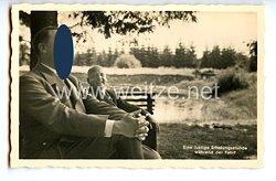 """III. Reich - Propaganda-Postkarte - """" Adolf Hitler - Eine lustige Erholungsstunde während der Fahrt """""""