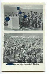 """III. Reich - Propaganda-Postkarte - """" Adolf Hitler - Der Führer auf dem Reichs-Erntedankfest - Bückeberg """""""
