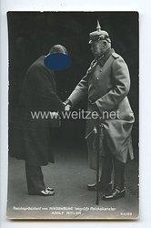 """III. Reich - Propaganda-Postkarte - """" Reichspräsident von Hindenburg begrüßt Reichskanzler Adolf Hitler """""""