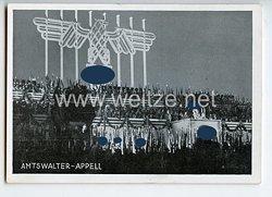 """III. Reich - Propaganda-Postkarte - """" Reichsparteitag 1934 - Amtswalter-Appell """""""