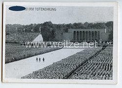 """III. Reich - Propaganda-Postkarte - """" Reichsparteitag 1934 - Der Führer bei der Totenehrung """""""