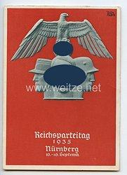 "III. Reich - farbige Propaganda-Postkarte - "" Reichsparteitag Nürnberg 1935 """