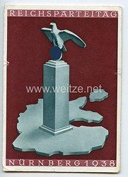 "III. Reich - farbige Propaganda-Postkarte - "" Reichsparteitag Nürnberg 1938 """