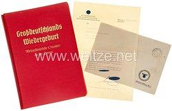 III. Reich - Großdeutschlands Wiedergeburt - Weltgeschichtliche Stunden an der Donau -Raumbildalbum als Geschenk