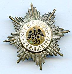 """Preußen großes Mitgliedsabzeichen """"Garde-Verein Grafschaft Minden 1912"""""""