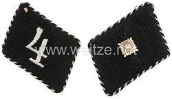 Allgemeine-SS Paar Kragenspiegel für SS-Unterscharführer der SS-Standarte 4