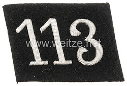 Allgemeine SS Einzel-Kragenspiegel für Mannschaften und Führer der SS-Standarte 113