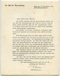 Kriegsmarine - Originalunterschrift von Großadmiral Dr. phil.h.c. Erich Raeder