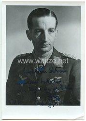 Luftwaffe - Originalunterschrift von Ritterkreuzträger Oberst Wolfgang Falck als Jagdführer Balkan