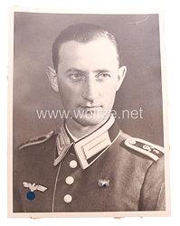 Wehrmacht Portraitfoto, Unteroffizier der Kradschützen-Abteilung 3.