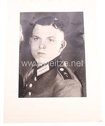 Wehrmacht Heer Portraitfoto, Soldat der Kradschützen-Abteilung 1.