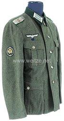Wehrmacht Feldbluse M 39 für einen Major im Gebirgsjäger-Regiment 139