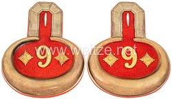 PreußenPaar Epauletten für einen Hauptmann im Lauenburgischen Jäger-Bataillon Nr. 9