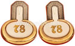 Preußen Paar Epauletten für einen Leutnantim Infanterie-Regiment Herzog Friedrich Wilhelm von Braunschweig (Ostfriesisches) Nr. 78